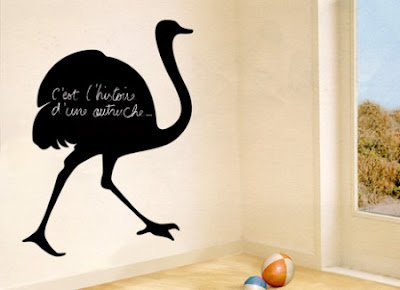 huge ostrich chalkboard sticker