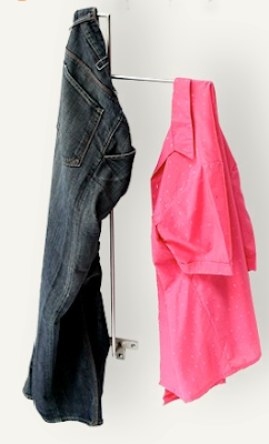 wall-mounted clothes valet