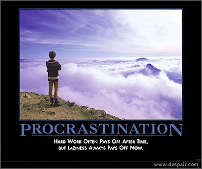 anti-motivational poster about procrastination