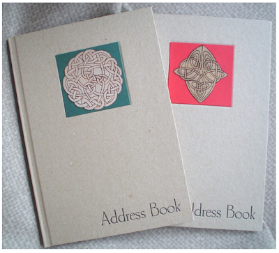 address book with Celtic knot