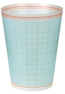 waste bin with graph paper design