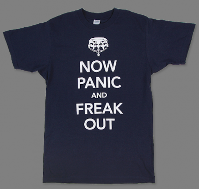 Now Panic and Freak Out t-shirt, navy