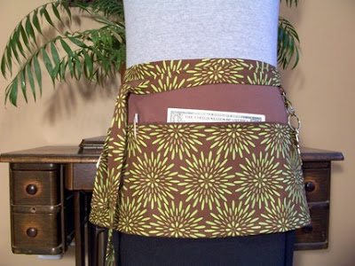 vendor apron, Chrysanthemum pattern