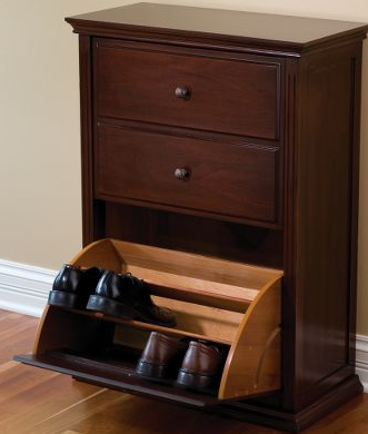 tilt out shoe storage cabinet
