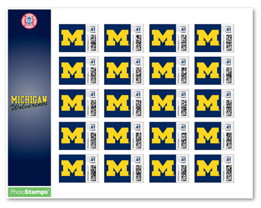University of Michigan postage stamps