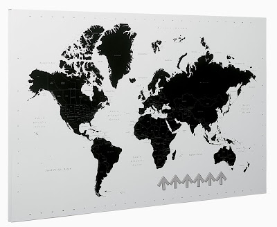magnetic map board