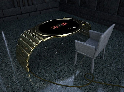 gold clock table