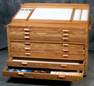 taboret - work surface and flat files