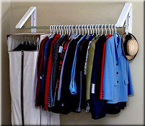 wall-mounted garment rack