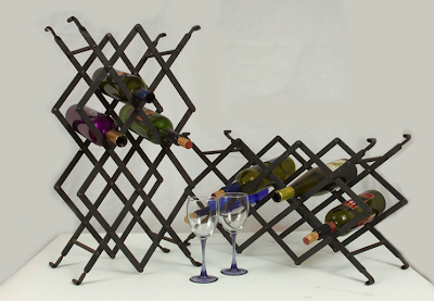 wine rack made by metalsmith