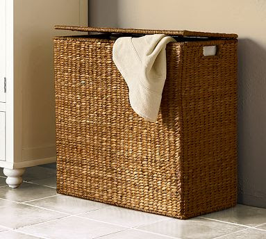 divided hamper, seagrass