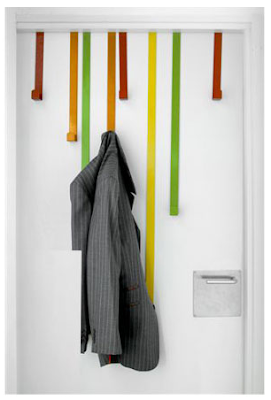 over-the-door hooks, various colors and lengths