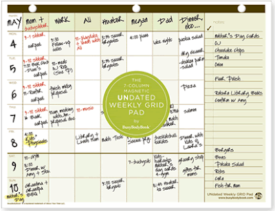 magnetic weekly planner pad