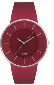 Alessi Luna watch, red