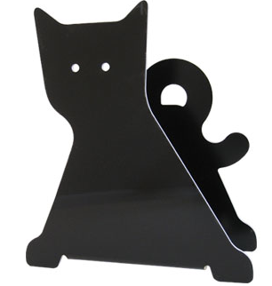 black cat magazine rack