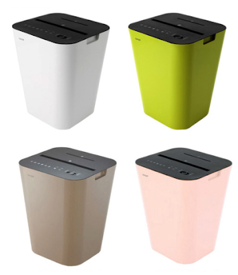 shredders in colors: green, pink, etc.