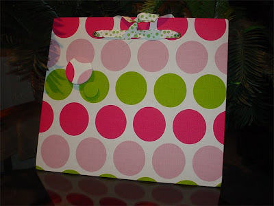 magnetic board with polka dots