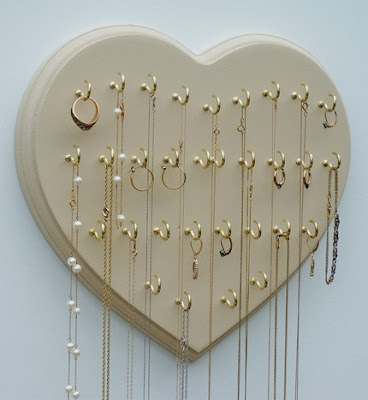 wall-mounted necklace holder