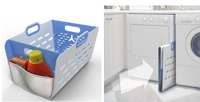 plastic collapsible laundry basket