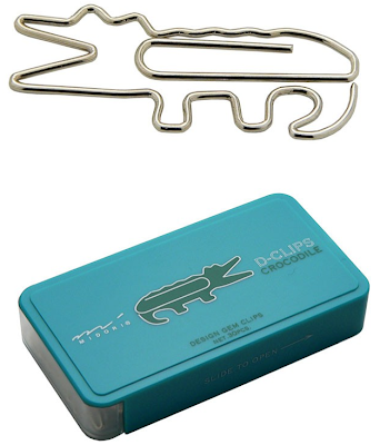 crocodile-shaped paper clips
