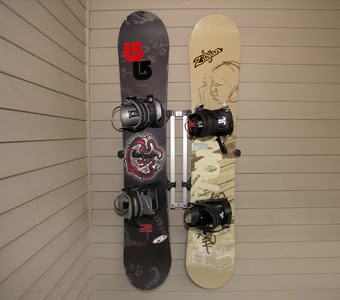 snowboard rack, wall-mounted, for two boards