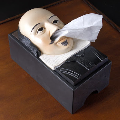 Shakespeare tissue box cover