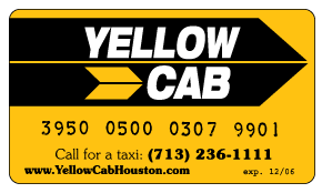 Houston yellow cab card