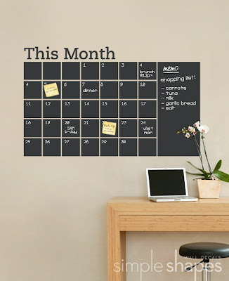 wall decal blackboard calendar