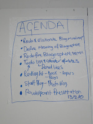 meeting agenda written on whiteboard