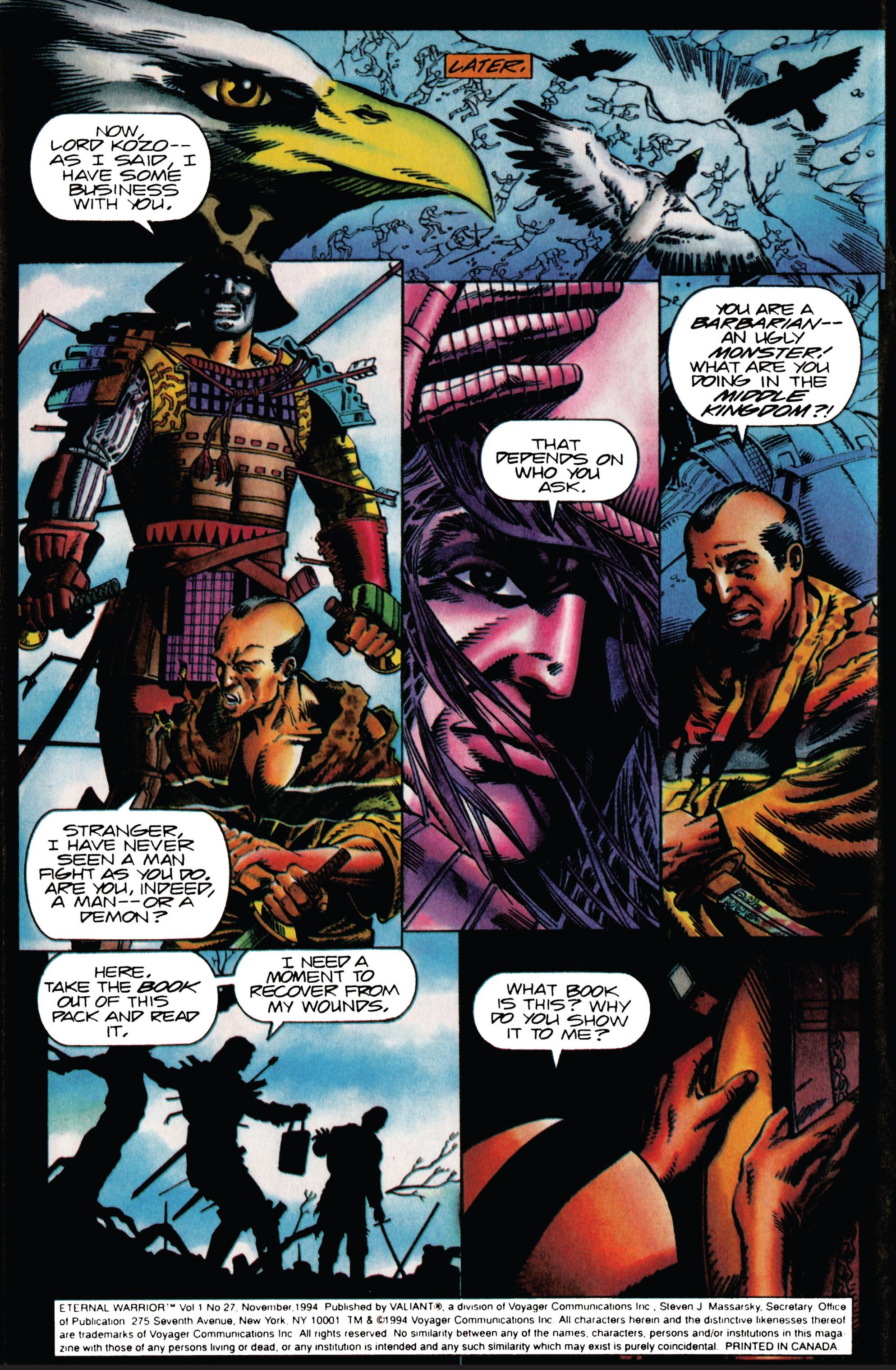 Read online Eternal Warrior (1992) comic -  Issue #27 - 4
