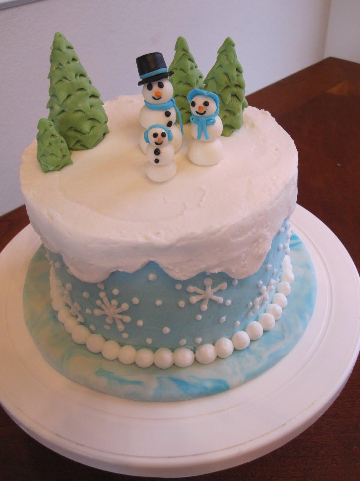 Ms Cakes Snow Family Cake