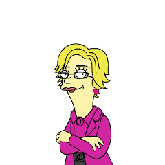 Mrs. Ris, a la The Simpsons