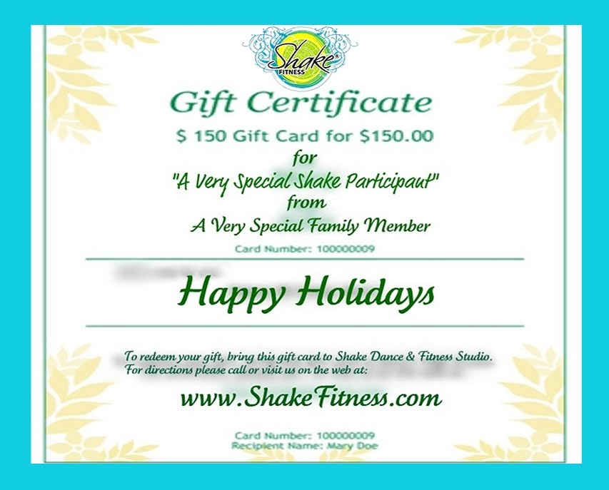 Fitness Gift Certificate Template - mandegarinfo