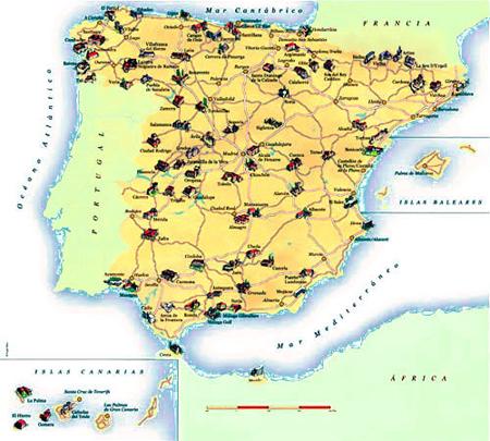 turismo espanha mapa Falemos de gastronomia: Turismo gastronómico : Paradores em  turismo espanha mapa