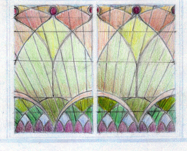 Golden Studios: Stained Glass Windows for Clear Story