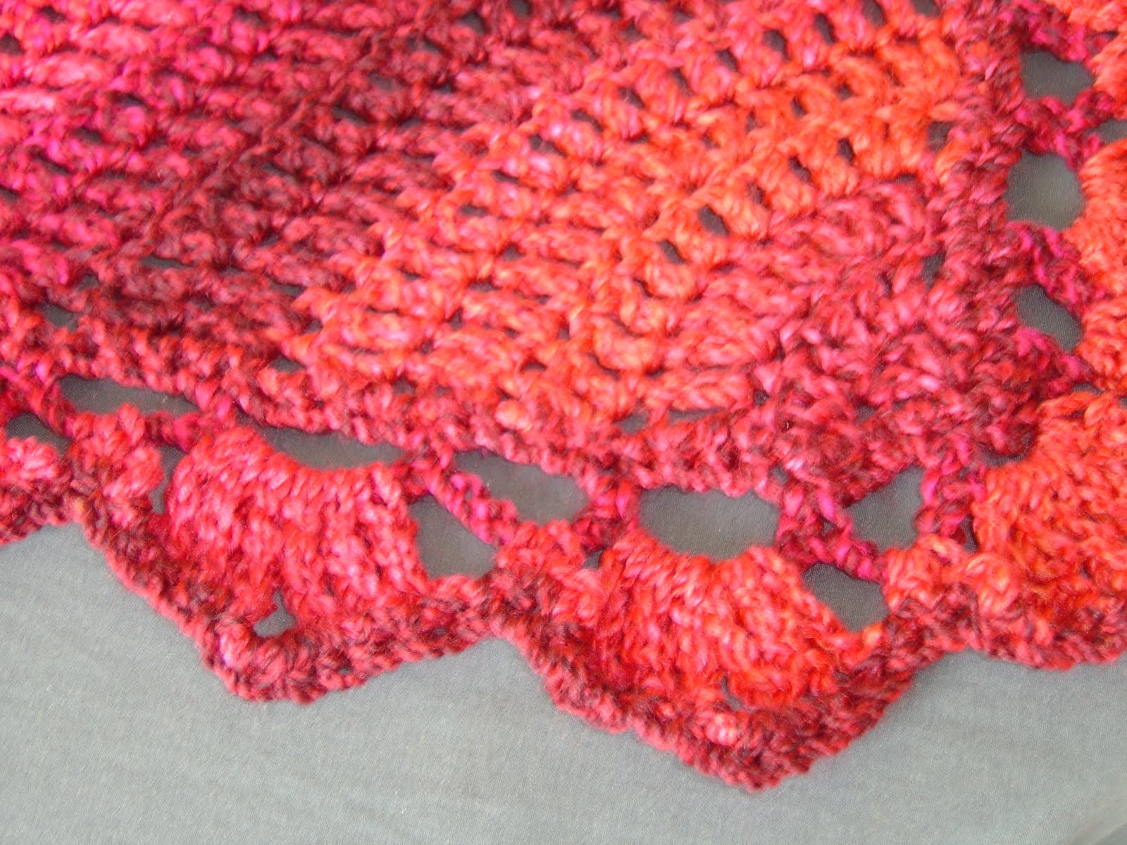 Enthusiastic Crochetoholic Easy Triangular Crochet Shawl