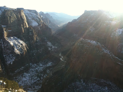 Running in Zion National Park - boy oh boy