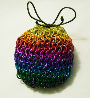 image rainbow chainmaille dice bag gamers