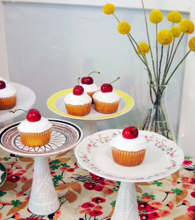 image recycled cake stands