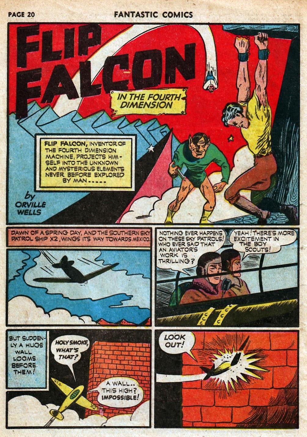 Read online Fantastic Comics comic -  Issue #18 - 22
