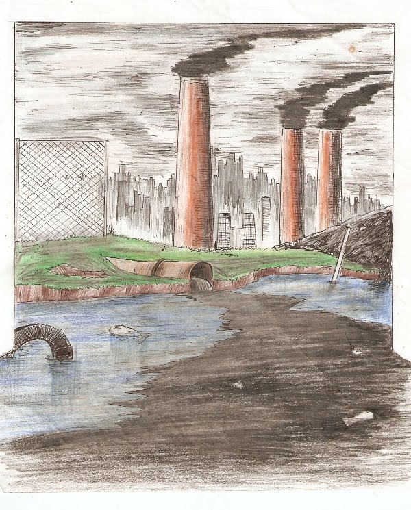 Anttonio Pereira Desenhos A Poluicao Da Cidade