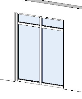 Muros cortina para revit architecture arqtool for Puertas corredizas revit