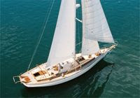 Charter the classic yacht SASKIANNA in New England this summer with ParadiseConnections.com