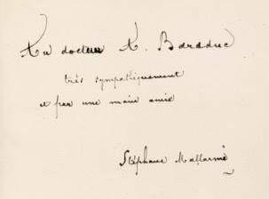 autographe signé de Mallarmé