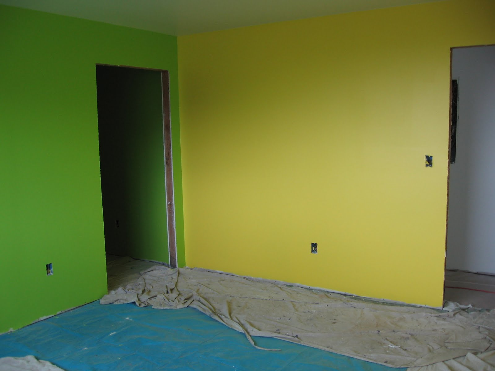 She Has Chosen Sunshine Yellow And Lemon Gr Green They Are Obviously Very Bright Loves Her Room Said That If Is Ever