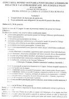 Subiecte romana titularizare 2008 page 1