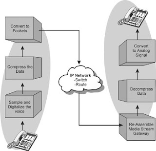 figure 1: packetized voice over data networks