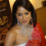 Sameera Reddy Red Hot In Saree Pics