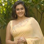 Hot Namitha In Lovely Cream Color Saree