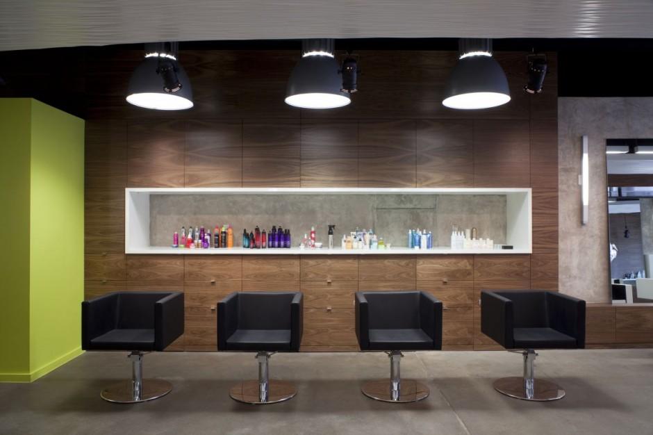 Um moderno sal o de beleza no texas design innova - Interior hair salon lighting ideas ...